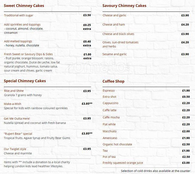 www.kurtos-kalacs.com Chimney cake Bakers Menu