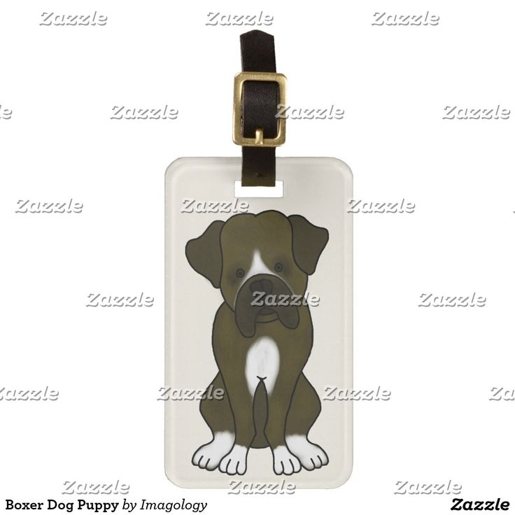 Boxer Dog Puppy Luggage Tag