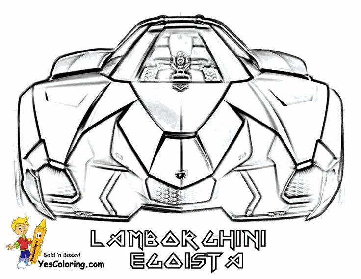 concept lamborghini car colouring pictures rear view