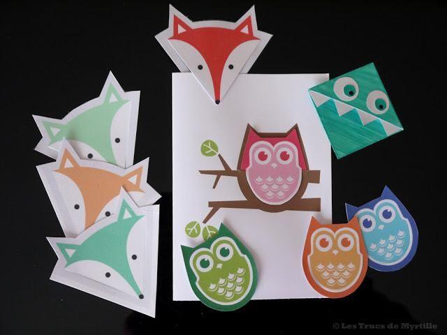 Marque-pages à imprimer (DIY) : renard, hibou ou monstre ?