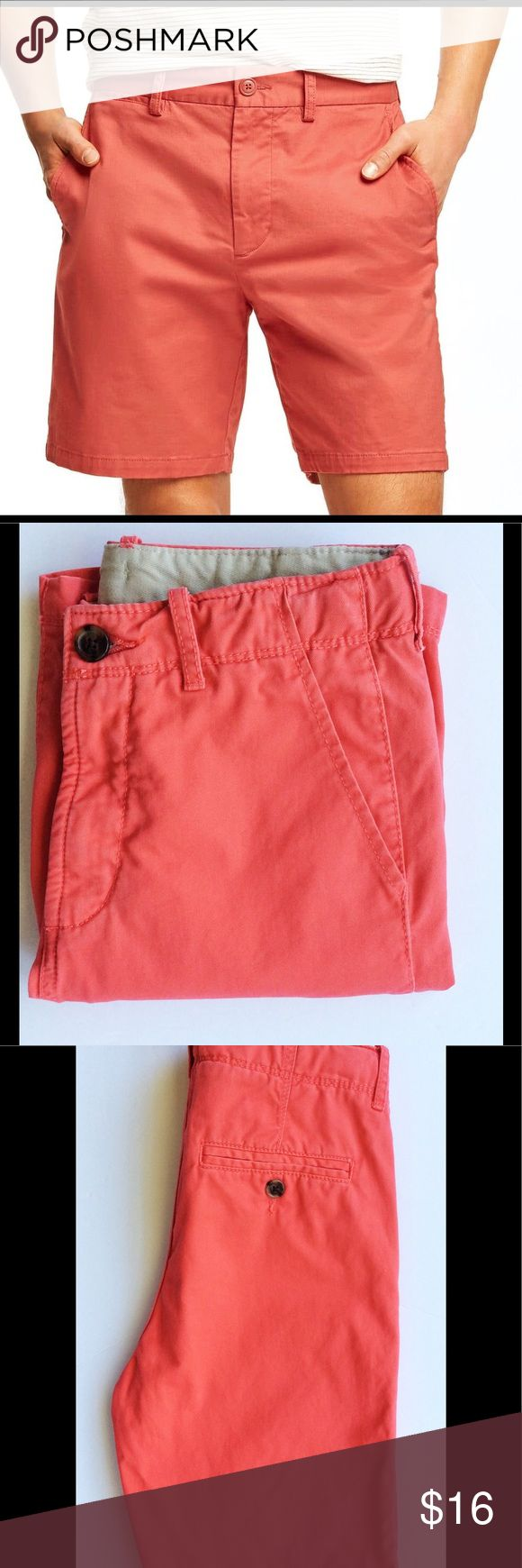 Gap Kids Boys Walking Shorts Gap kids walking shorts in a salmon color. Size 14 slim, measurements are approx., Waist 26 inches, Inseam 9 inches. Features a hidden adjustable waistband, two front pockets, one front coin pocket, and two button back pockets. 100% cotton. Gap Kids Bottoms Shorts