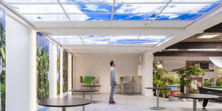 Albeda College | Vlaardingen  Lumick standard #LED cloud ceiling. www.lumick.com Interior Design - Healing Environment - Architecture