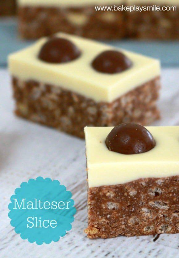 Easy Malteser Slice recipe