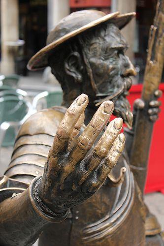 Estatua de Don Quijote, en Alcalá de Henares, Madrid.