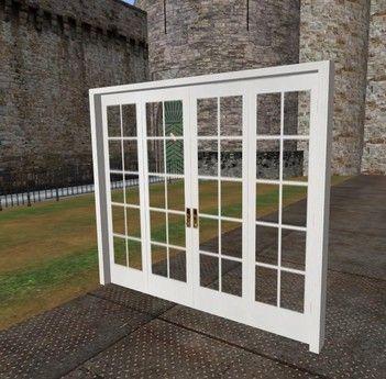 Wonderful 4 Panel White French Bifold Door   Bi Fold Door   French Patio Door V3 Images