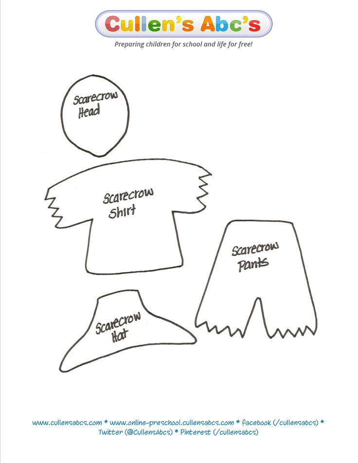 Use This Scarecrow Pattern To Print Out And Cut I Would