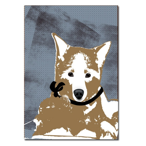Akita Dog illustration  fine art print Akita dog art by ialbert, $25.00