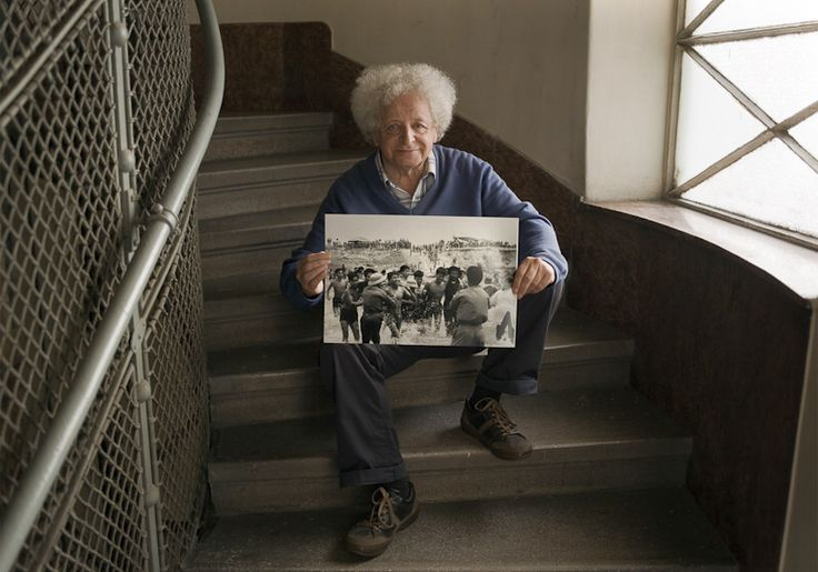 Friedman Endre - Famous hungarian photographers posing with their most iconic works.