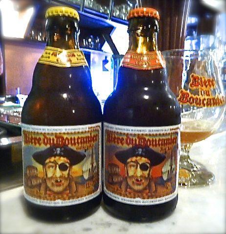 Biere du Boucanier - Golden Ale 11% and Red Ale 7% brewed at Brouwerij Van Steenberge-Bios di Ertvelde, nelle Fiandre Orientali (Oost Vlaanderen),