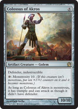 Amazon.com : Magic: the Gathering - Colossus of Akros (214/249) - Theros : Collectible Single Trading Cards : Toys & Games