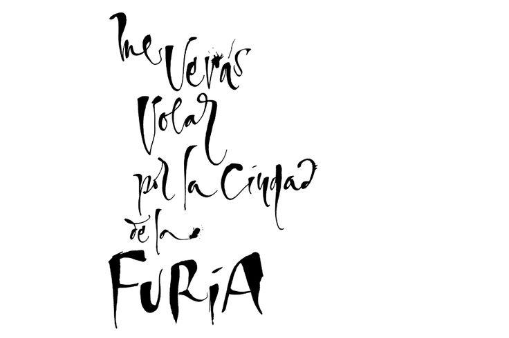 """Este es un proyecto realizado en conjunto con LAMM para su nueva colección de cuadernos. He sido invitada por ellos para generar algunas frases del gran sencillo de Soda Stereo, """"La ciudad de la furia"""", escrito y compuesto por Gustavo Cerati, lanzado en 1988."""