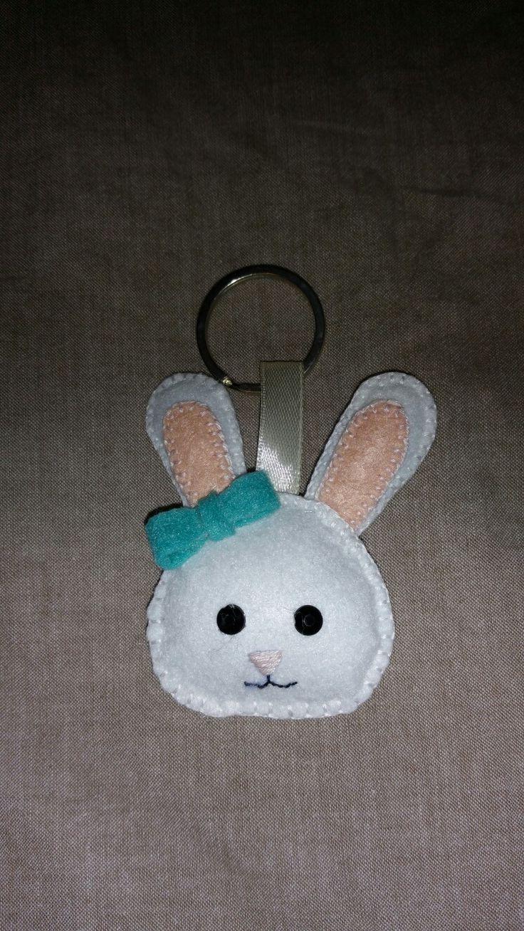 portachiavi bunny coniglio feltro felt