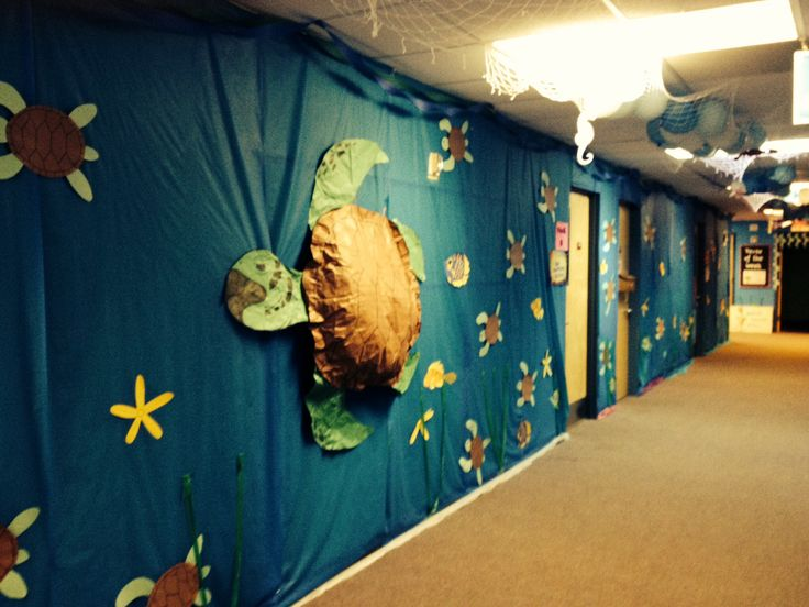 Ocean floor decorations for our Weird Animals VBS