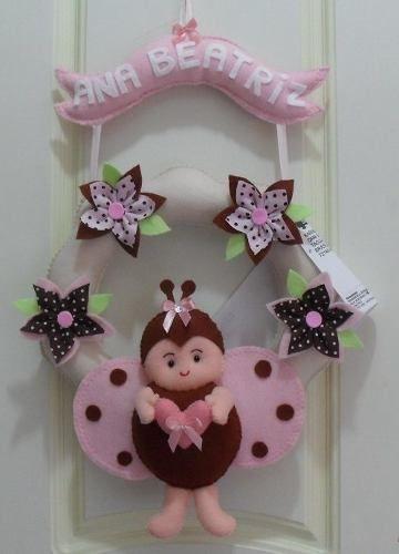 Enfeite Porta De Maternidade Joaninha - R$ 55,00