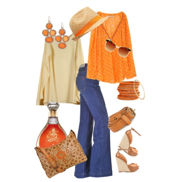 tangerine, created by tammielou1958 on Polyvore