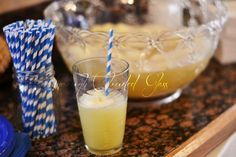 Yellow/gold punch recipe with sherbet
