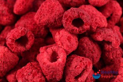 Freeze-Dried Raspberries 100g (Healthy Supplies) - HealthySupplies.co.uk. Buy Online.