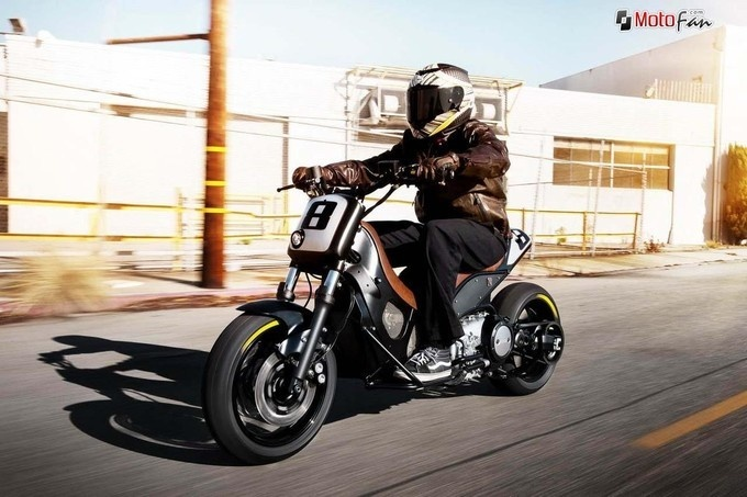 Yamaha T-Max Hyper-Modified par Roland Sands