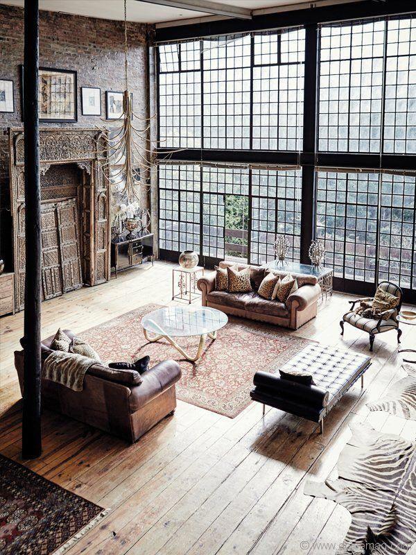 Offenes Loft Mit Wundervollen Fenstern Interiordesign