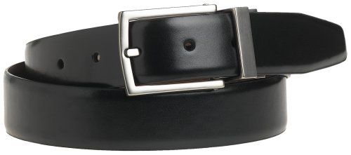 "Kenneth Cole REACTION Men's U-Turn Reversible 1 1/4"" Leather Belt, Black/Brown, 34 Kenneth Cole REACTION. $22.82. Matte titanium tongue buckle. leather. Feather edge belt. Imported. Glove calf grain leather. Reversible, black to brown"