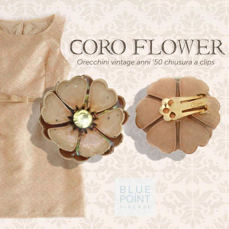 Orecchini CORO FLOWER Vintage Collection #bluepointfirenze #bpf #italianissimi #jewels #orecchini #fashionissimi #handmade #gioielloartigianale #vintage
