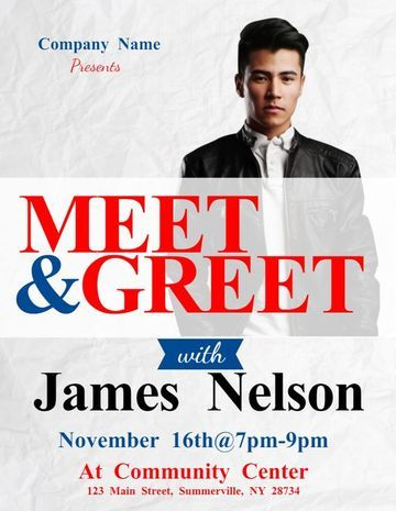 meet and greet flyers templates