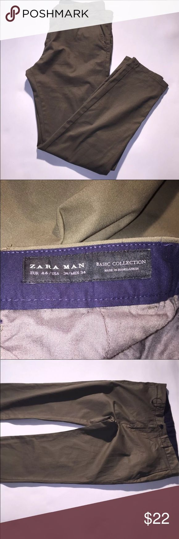 Zara men's pants Zara men's pants in Great condition in a olive green color if you have any questions please feel free to contact me thanks for visiting my page    #fashion #swag #style #stylish #socialenvy #me #swagger #photooftheday #jacket #hair #pants #shirt #handsome #cool #polo #swagg #guy #boy #boys #man #model #tshirt #shoes #sneakers #styles #jeans #fresh #dope #love #zara Zara Pants Chinos & Khakis