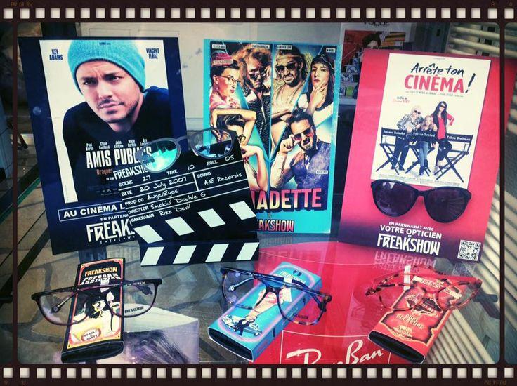 Vitrine #Freakshow en cinémascope & technicolor ! Merci L'Opticien du 13ème Visagiste !