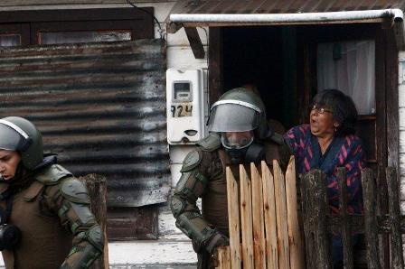 desalojo del pueblo de Aysen de sus propias casas.