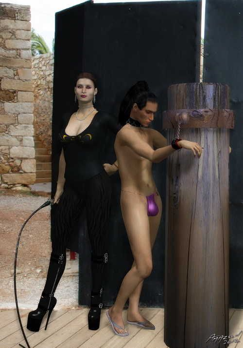 Punishment for submissive husband.