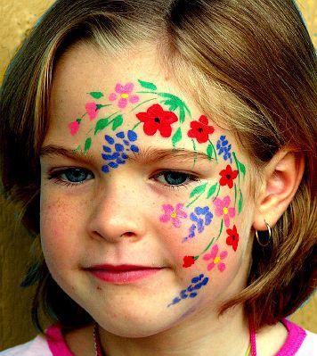 Simple Wild flower face paint