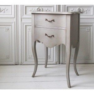 Pale Stone Bedside Table