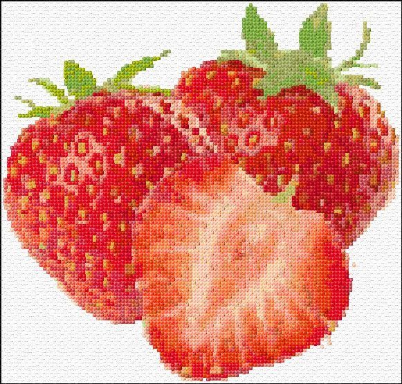 Cross Stitch | Strawberries xstitch Chart | Design