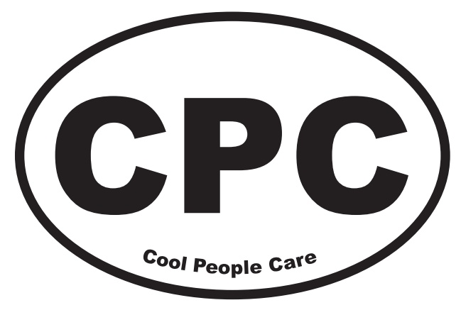 Tell everyone in your wake that it's cool to care: People Care, Bumper Stickers