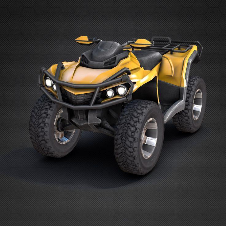 atv vehicle 3d 3ds