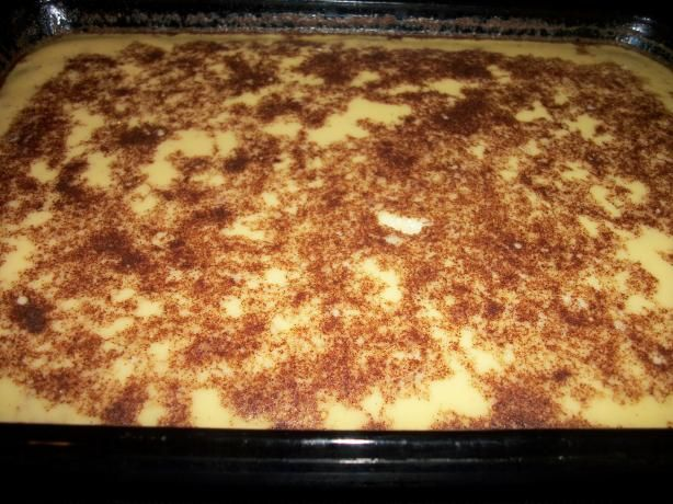 Old fashioned baked rice custard recipe