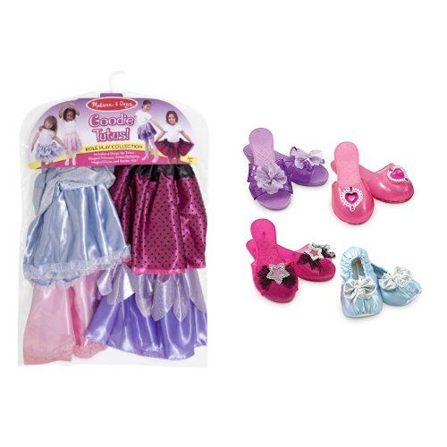 Melissa & Doug Goodie Tutus & Shoes Dress-Up Set Bundle...