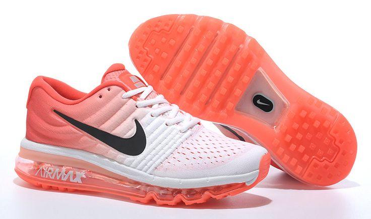 Nike Air Max 2017 Dames Loopschoenen Wit Oranje
