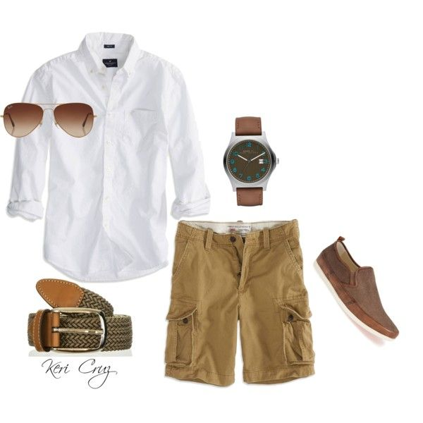 Casual Men's Summer, created by keri-cruz on Polyvore