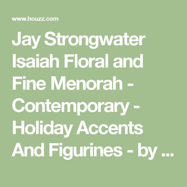 Jay Strongwater Isaiah Floral and Fine Menorah - Contemporary - Holiday Accents And Figurines - by Biggs Ltd.