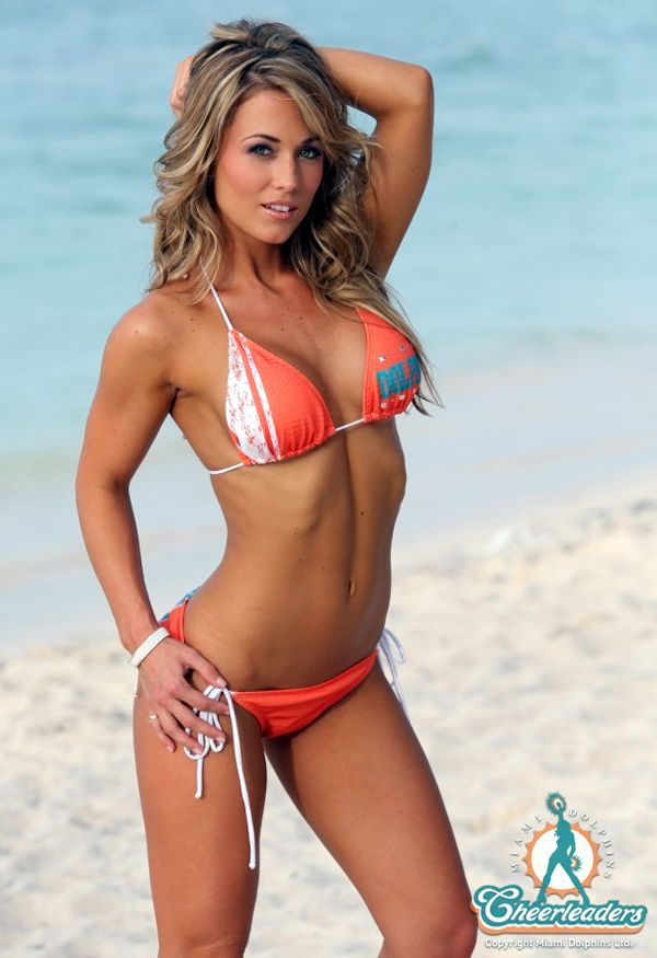 Hottest Bikini Trends Photos: Miami Dolphins Sneak Peak At The 2013 Swimsuit Calendar