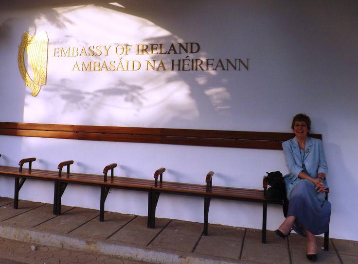 Director Ellen Gunning at the Embassy of Ireland, Abuja, Nigeria.