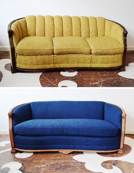 Ikea Sofa Bed Upholstered sofa before after