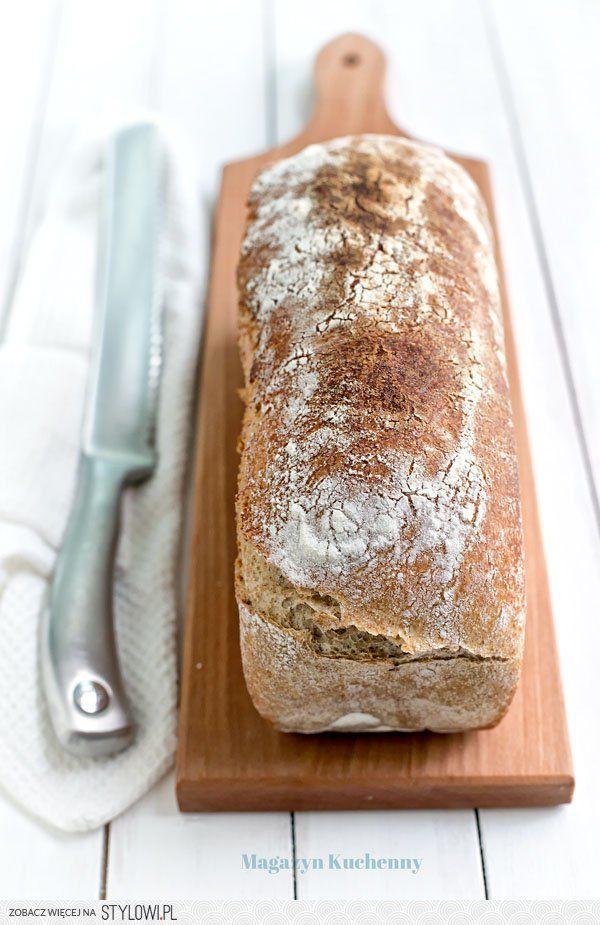 Prosty chleb na pszenno-żytni na zakwasie  zaczyn:…