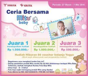 "#KontesFotoBayi Kontes Foto Bayi ""Ceria Bersama Mitu Baby"" 2015  DEADLINE: 7 Mei 2015  http://infosayembara.com/sayembara.php?judul=kontes-foto-bayi-ceria-bersama-mitu-baby-2015"