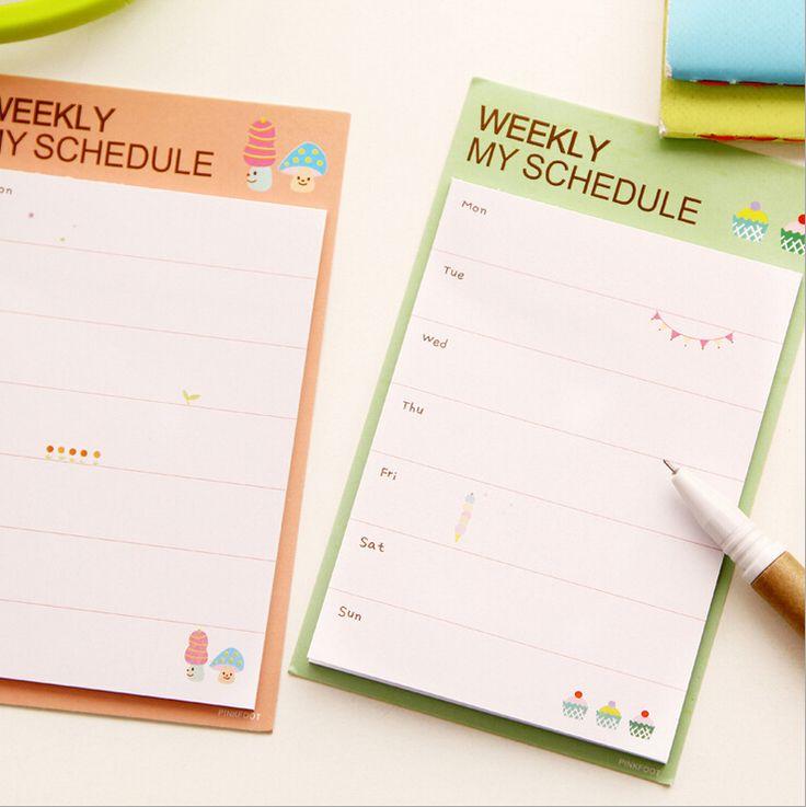 E32 5x каваи милый еженедельный график план бумаги скрапбукинга наклейки papelaria канцелярские ноутбук escritorio купить на AliExpress