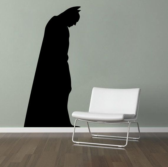 Batman Wall Decal Vinyl Wall Art by madmonkeydecals on Etsy