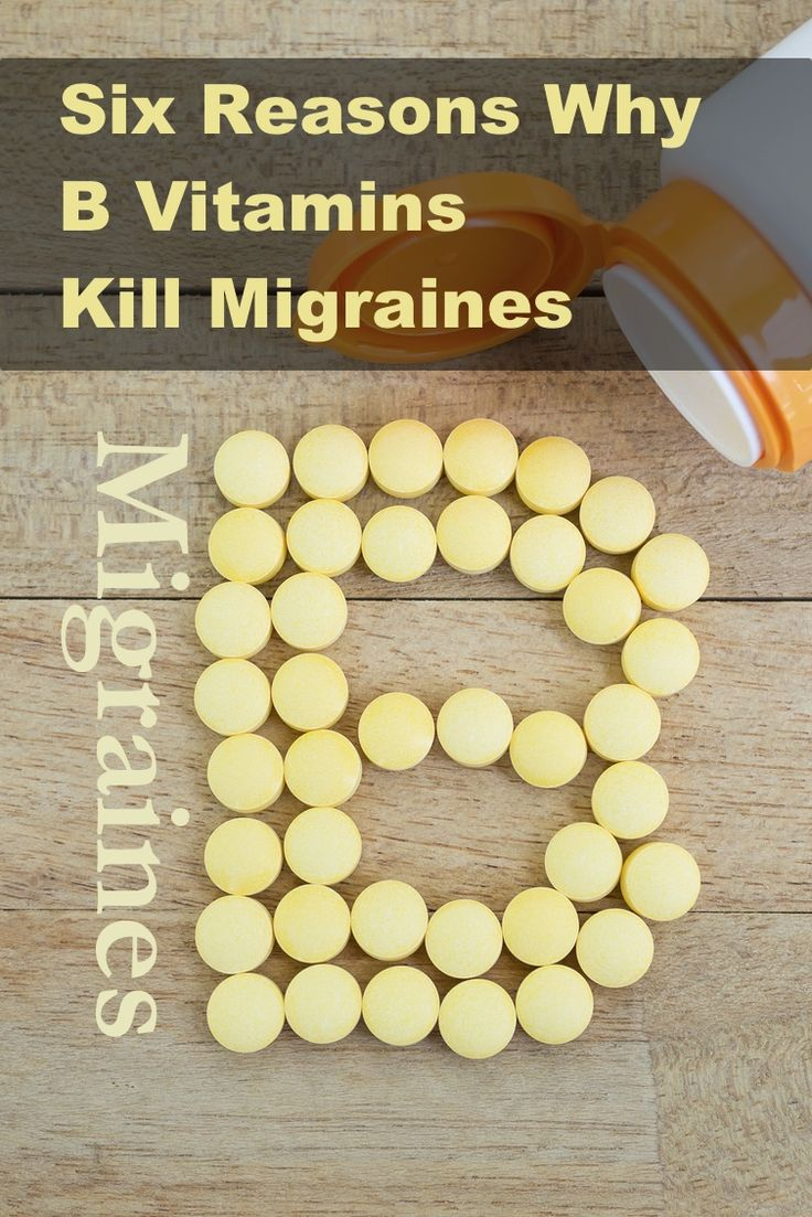 Six reasons why B vitamins kill migraines. And why some B vitamins do more harm than good. http://3dayheadachecure.com/migraine-prevention/b-vitamins/