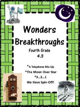 WondersMcGraw HillGrade 4Unit 4 Week 3BreakthroughsThis Study Guide includes:Spelling:  three lists, home note, sorts, alphabetizing, flashcardsVocabulary Words:  home note, flashcards, matching, squares/boxes, sentencesComprehension Questions for three selections and answersComprehension Skills:  Connections, Summary, Author's Purpose, Point of View, ...Revised Bloom's Taxonomy ExtensionsInteractive Notebooks:  Writers and Word Study ActivitiesPosters:  Genre, Essential Question, Synonyms…