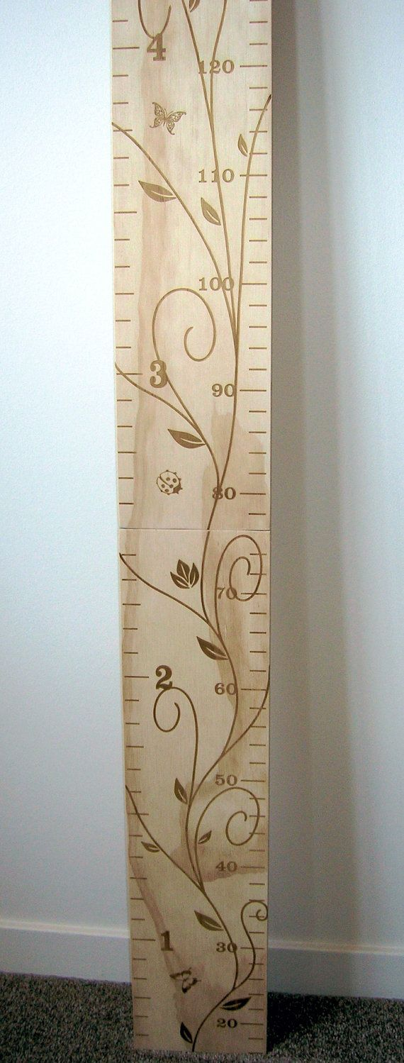 Personalized Wooden Height Chart for by LazerGraphicsStudio